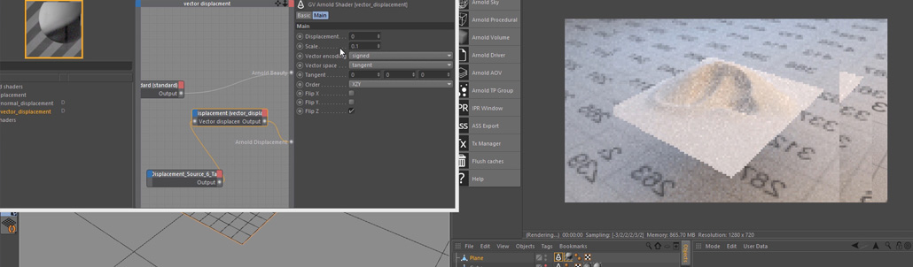 35. Subdivision and Displacement Mapping in Arnold For Cinema 4d