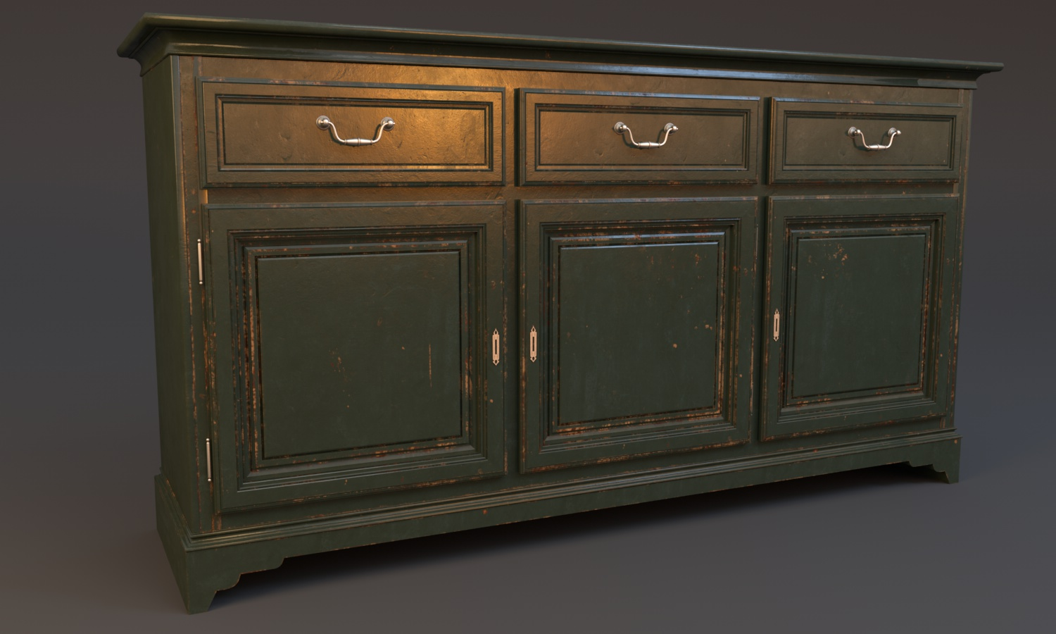0202_Wood_Painted_sideboard_worn-out