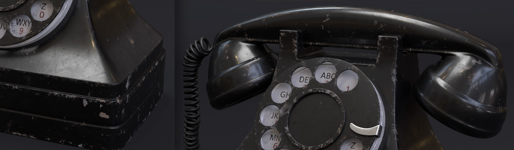 "68. Creating a realistic ""Vintage Rotary Telephone"" shader in Arnold 5 for Cinema 4d"