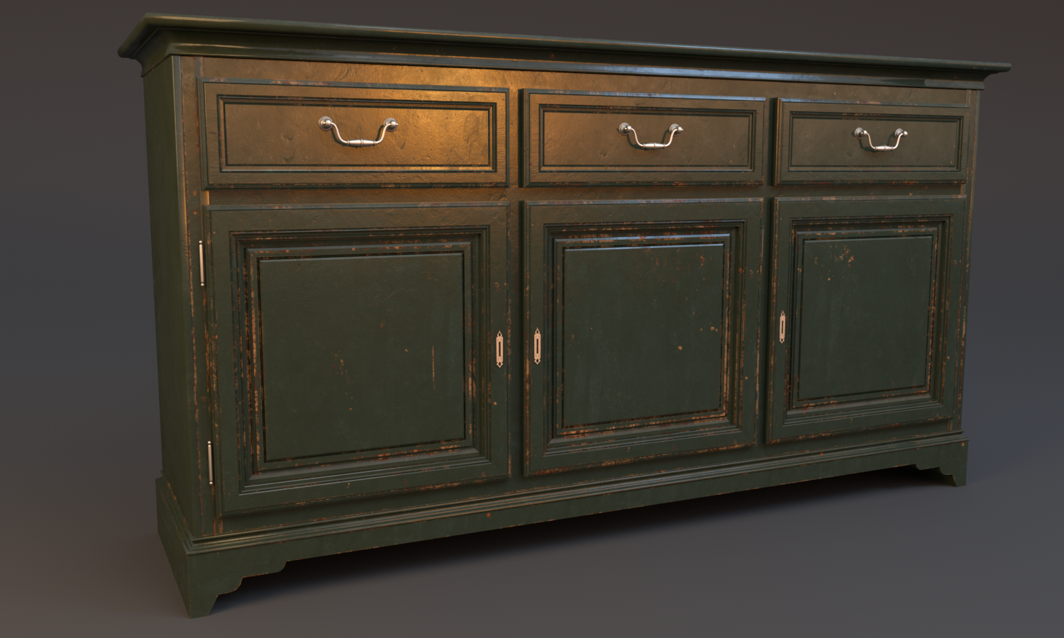 Wood_Painted_sideboard_worn-out