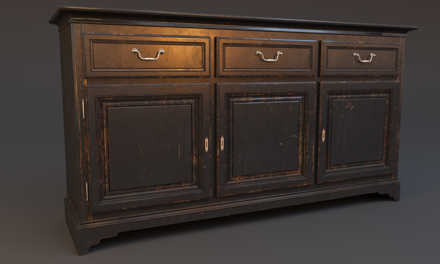 Wood_Painted_sideboard_worn-out_Black