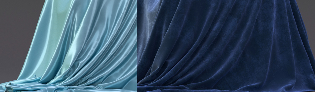 fabric and cloth in corona for cinema 4d
